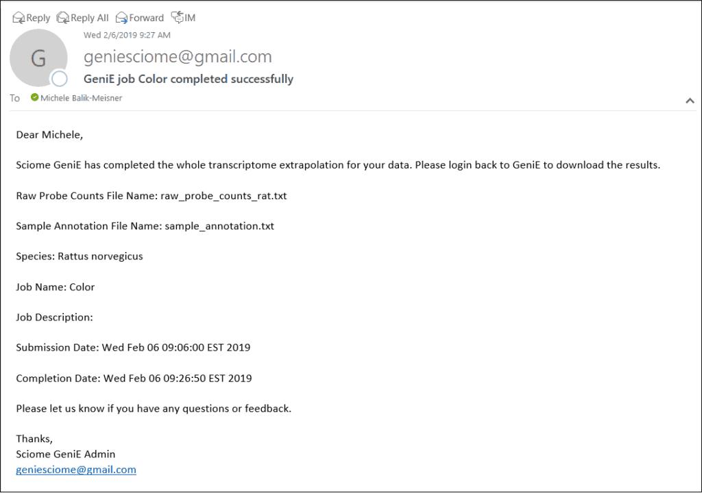 Genie Email